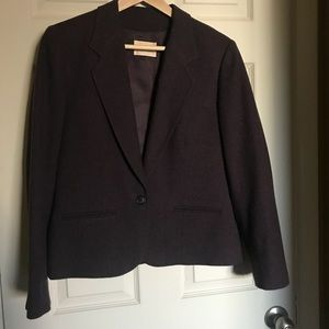 Excellent Wool Purple Blazer